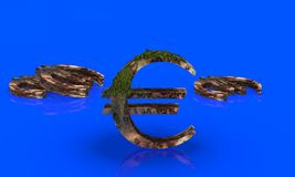 Morte dell'euro Immagini Stock Libere da Diritti