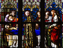 Morte di Maria la madre di Gesù in glass_2 macchiato Fotografia Stock Libera da Diritti