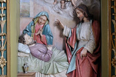 Morte di Saint Joseph Immagini Stock Libere da Diritti