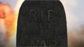 Morte do assassinato da tragédia da guerra Depressão da guerra da violência 10 video estoque