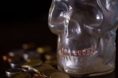 Morte e concetto dei soldi fotografie stock