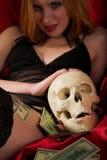 Morte e soldi Fotografie Stock