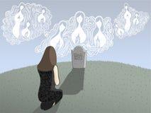 Morte ed angeli illustrazione di stock