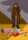 Morte em Egipto ilustração stock