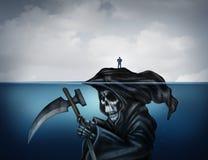 A morte está aparecendo ilustração stock