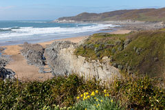 Morte Point Woolacombe Devon England Royalty Free Stock Images