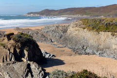 Morte Point Woolacombe Devon England Stock Image