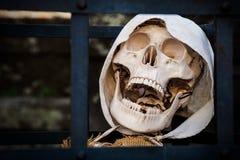 morte Prisioneiro de esqueleto inoperante fotos de stock
