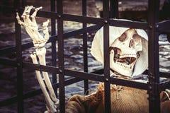 morte Prisioneiro de esqueleto inoperante imagens de stock