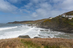 Mortehoe Watersmeet Woolacombe Devon Royaltyfria Foton