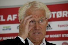 MORTEN OLSEN_DANISH ANTIONAL FOOTBALL TEAM COACH Royalty Free Stock Images
