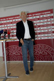 MORTEN OLSEN_DANISH ANTIONAL FOOTBALL TEAM COACH Stock Photography