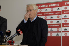 MORTEN OLSEN_HEAD COUCH DANISH NATIONAL FOOTBALL TEAM Royalty Free Stock Image