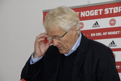 MORTEN OLSEN_HEAD COUCH DANISH NATIONAL FOOTBALL TEAM Stock Photography