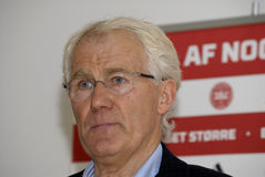 MORTEN OLSEN_HEAD COUCH DANISH NATIONAL FOOTBALL TEAM Royalty Free Stock Images