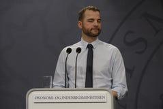 MORTEN OSTERGAARD_HOME和经济部长 库存照片