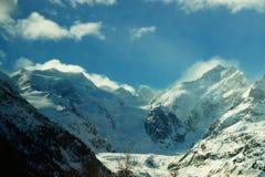 Morteratsch glaciär Arkivfoton