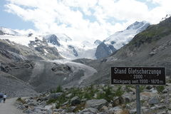 Morteratsch glacier Royalty Free Stock Image