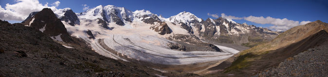 Morteratsch Glacier, Switzerland Stock Photos