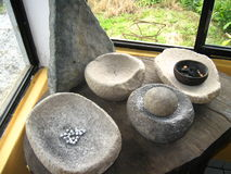 Mortero de piedra Imagen de archivo