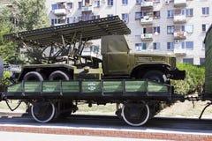 Mortero Katyusha Stalingrad, Rusia foto de archivo