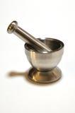 Mortero-N-Maja de acero Fotografía de archivo libre de regalías