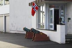 Morteros viejos Noruega fotos de archivo