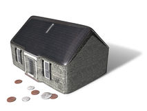Mortgage. Porcelain coin bank in the form of a house Royalty Free Stock Image