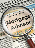 Mortgage Advisor Hiring Now. 3D. Stock Image