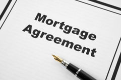 Mortgage Agreement. And pen close up Stock Photography