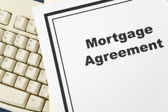 Mortgage Agreement Stock Photos
