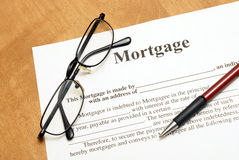 Mortgage Agreement Royalty Free Stock Photos