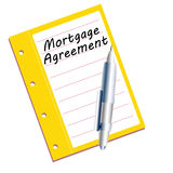 Mortgage agreement Stock Image