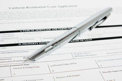 Mortgage application Royalty Free Stock Images