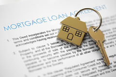 Mortgage application Royalty Free Stock Photos