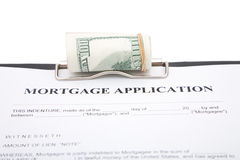 Mortgage application Stock Photos
