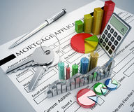 Mortgage Application concept Stock Images