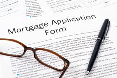 Mortgage Application Form Royalty Free Stock Image