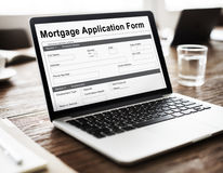 Mortgage Application Form Information Details Concept Royalty Free Stock Photo
