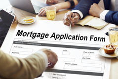 Mortgage Application Form Information Details Concept Royalty Free Stock Image