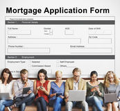 Mortgage Application Form Information Details Concept stock photos