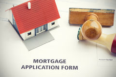Mortgage application form Royalty Free Stock Photos