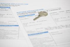 Mortgage application for stock photography
