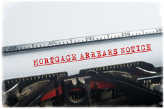 Mortgage arrears notice Stock Photo