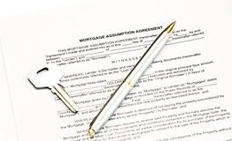 Mortgage assumption agreement Stock Photos