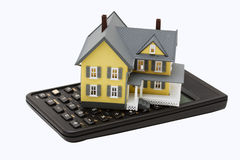 Mortgage Calculator Stock Photography