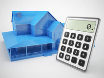 Mortgage and Calculator concept. 3d high quality rendering Royalty Free Stock Image