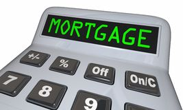 Mortgage Calculator Figure Loan Amount. 3d Illustration Stock Photos