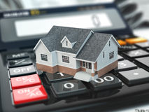Mortgage calculator. House on buttons. Real estate concept. Royalty Free Stock Image