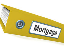 Mortgage Computer Key Showing Real Estate Borrowing Royalty Free Stock Photos